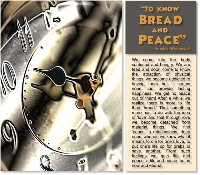 To Know Bread and Peace 2