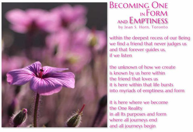 Becoming One in Form and Emptiness 2