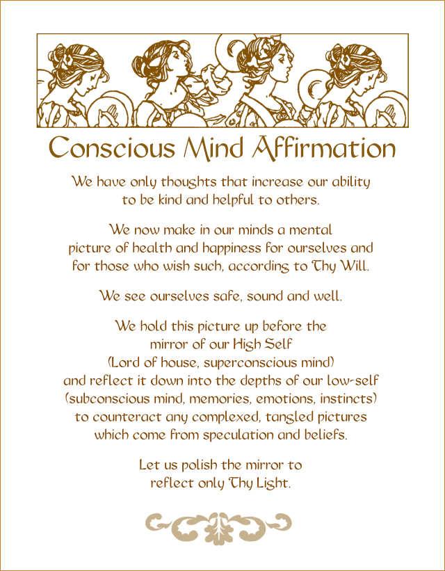 Conscious Mind Affirmation 4 2