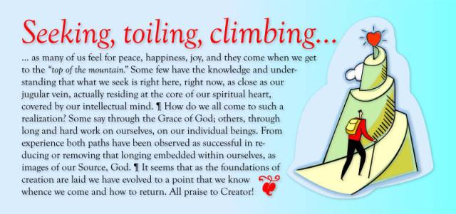 Seeking  toiling  climbing..