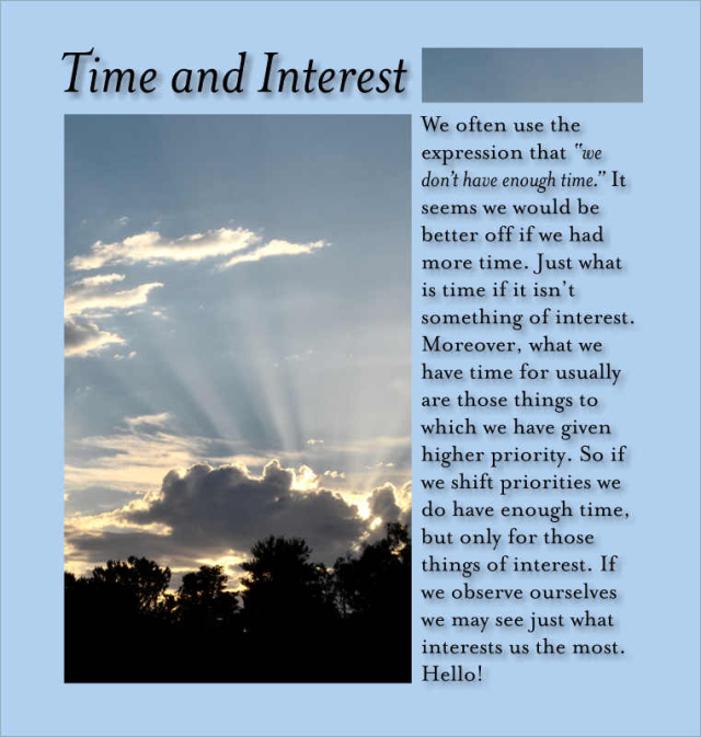 Time and Interest 2